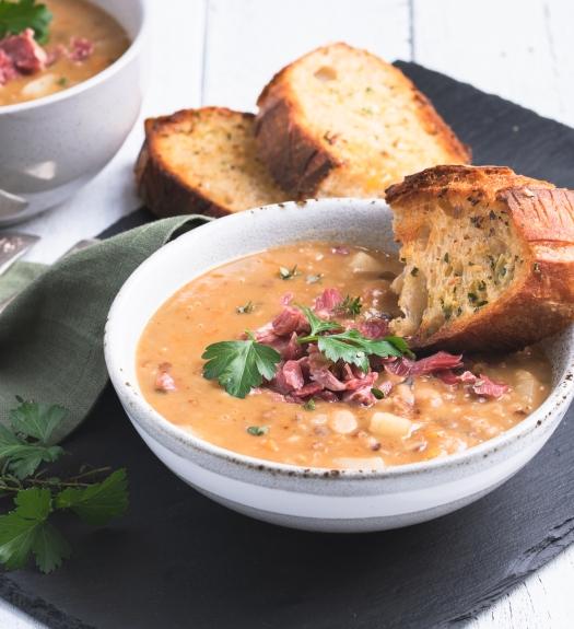 Lentil and ham soup